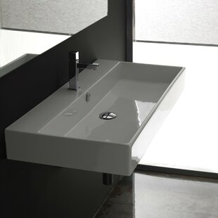 Price Check Ceramica II Unlimited Ceramic Ceramic Rectangular Vessel Bathroom Sink with Overflow By WS Bath Collections