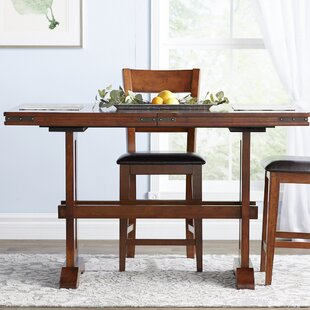 Nashoba Counter Height Extendable Dining Table Loon Peak