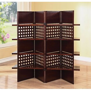 Hawkin Wooden 4 Panel Room Divider