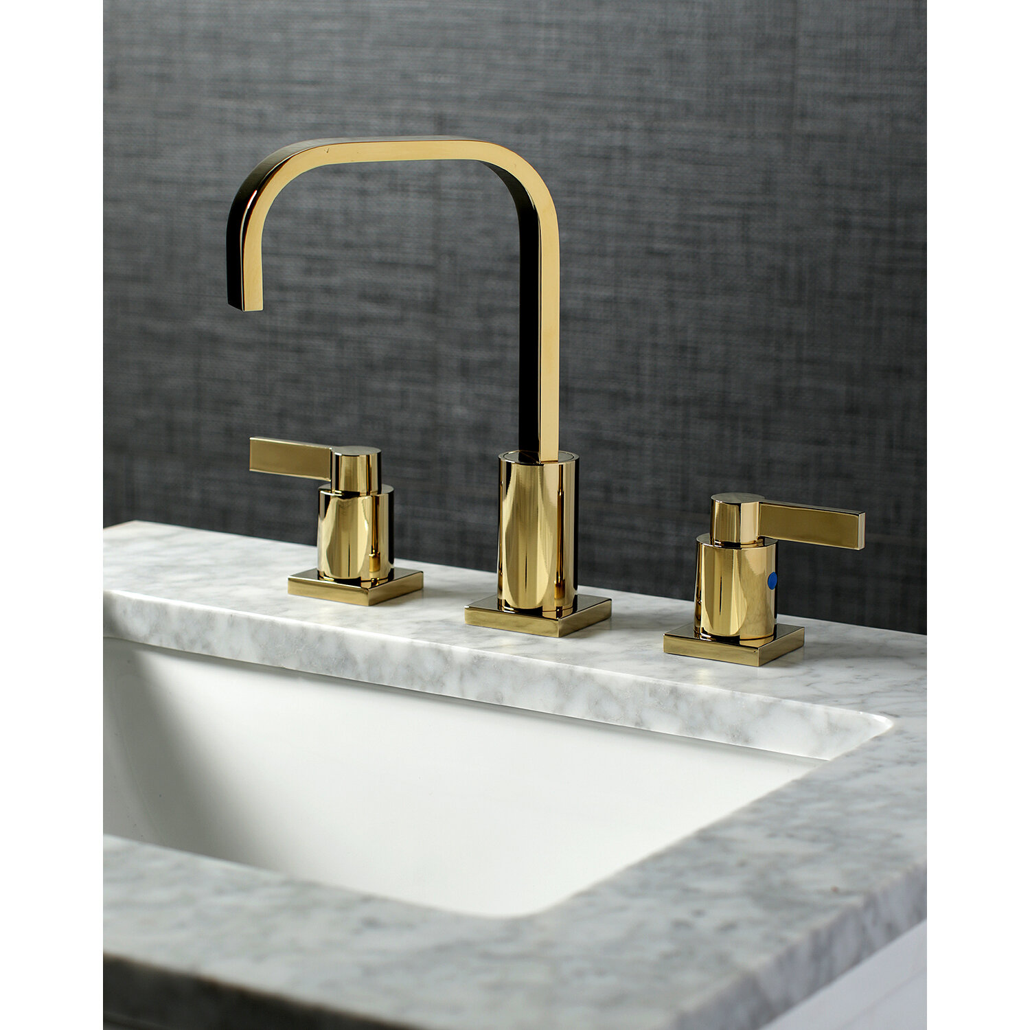 Kingston Brass Nuvo Fusion Widespread Bathroom Faucet With Drain Assembly Reviews Wayfair