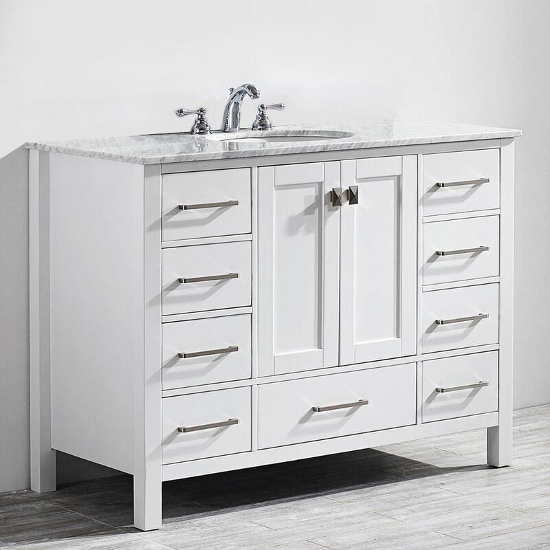 Beachcrest Home Newtown 48 Single Bathroom Vanity Set Reviews Wayfair