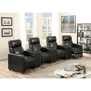 Latitude Run Ketter Push Back 4-Piece Home Theater Row Seating