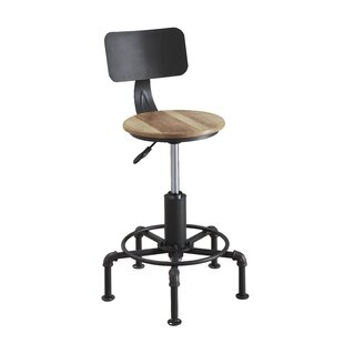 Tenley Adjustable Height Swivel Bar Stool by Williston Forge