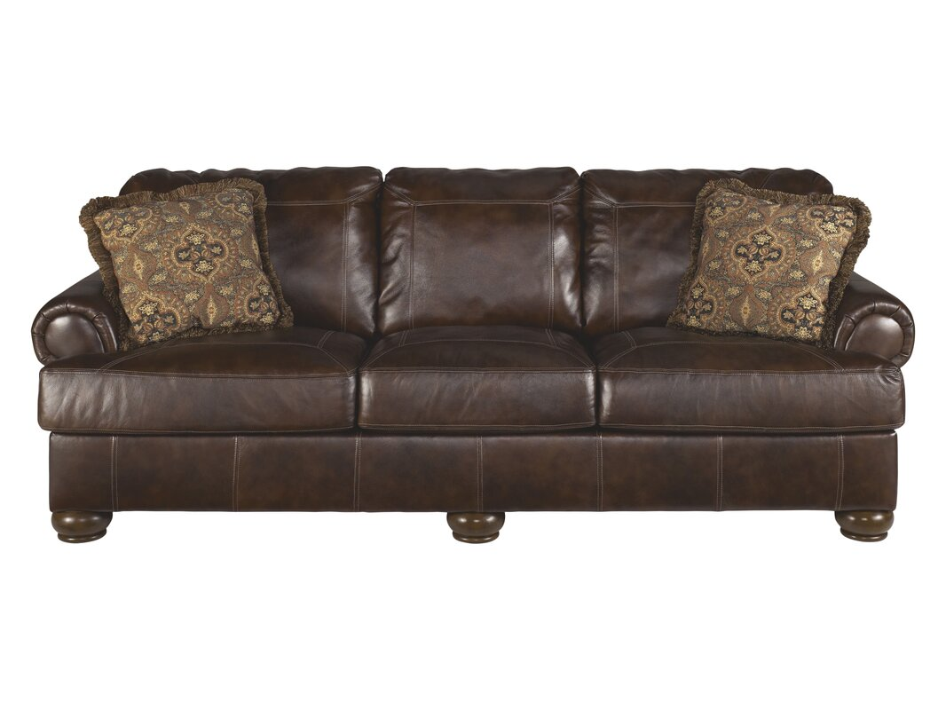 bannister leather sofa. darby home co bannister leather sofa  reviews  wayfair