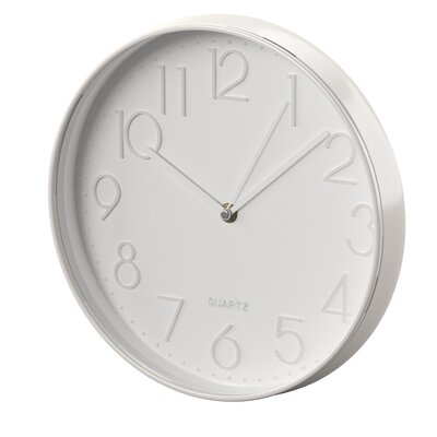 Mercury Row Malott 11.75 Wall Clock Finish: Silver