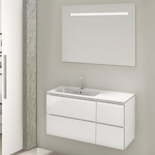 Loire 3-Piece Bathroom Furniture Set With LED Mirror By Belfry Bathroom