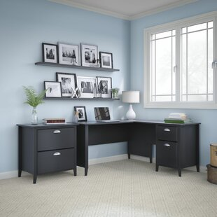Connecticut 2 Piece L-Shape Desk Office Suite by Kathy Ireland Home Bush Furniture Great price
