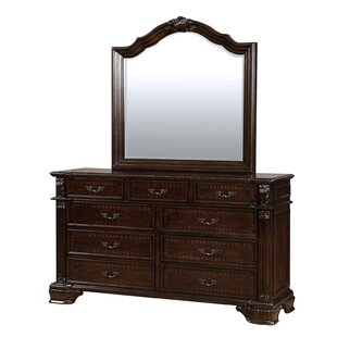 Sierra 9 Drawer Double Dresser with Mirror
