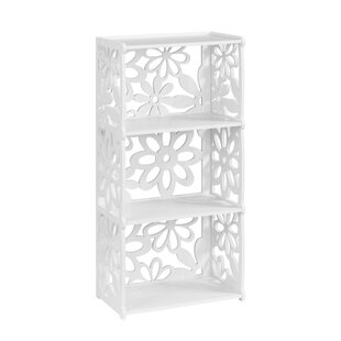 Wylie 3-Tier Modular Flower Cut-Out Wood Plastic Composite Standard Bookcase by House of Hampton