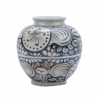 Aerin Home White 13 3 Ceramic Table Vase Perigold