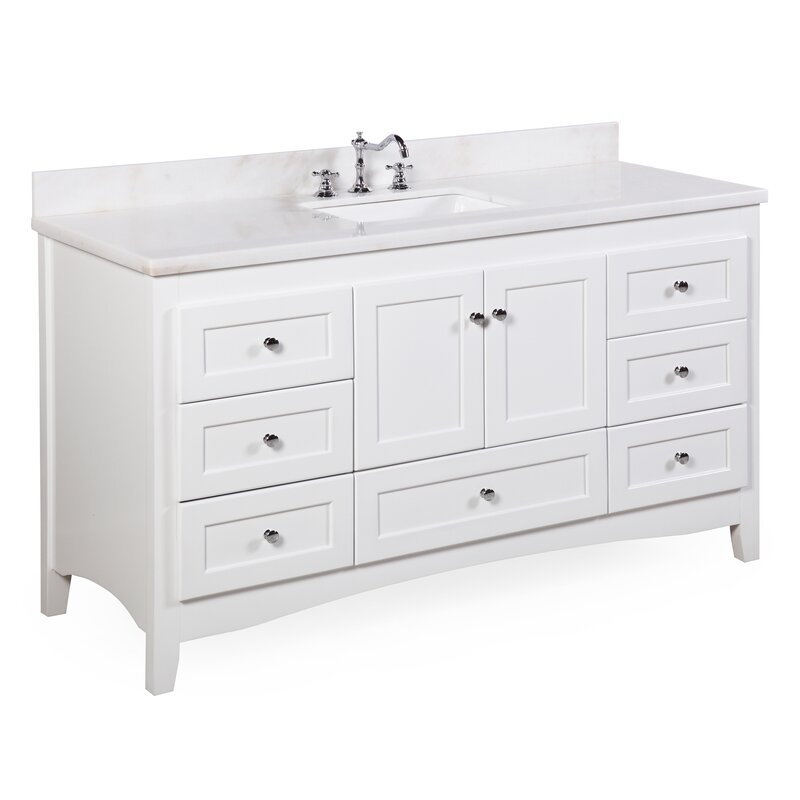 "kbc abbey 60"" single bathroom vanity set & reviews 