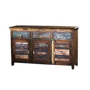 Marlin Wooden 3 Drawer Buffet Table Millwood Pines
