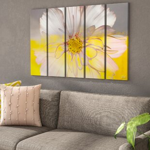 Painted Petals Xiv Framed Graphic Art Print On Canvas