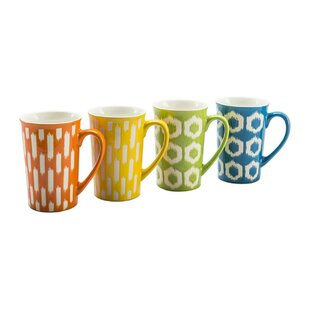 16 oz. Ikat Mug Set (Set of 4)
