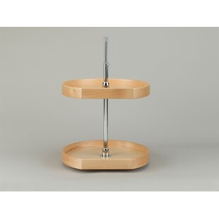 Rev-A-Shelf Natual Wood D Shape 2 Shelf Lazy Susan