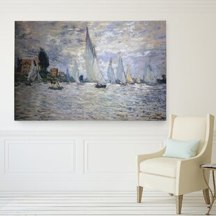U0027Boats Regattau0027 By Claude Monet Print