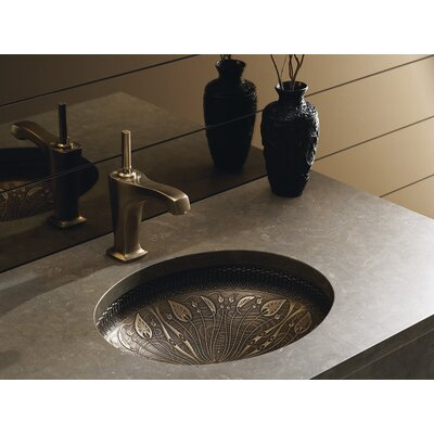 artist editions lilies lore oval undermount bathroom sink - Undermount Bathroom Sinks