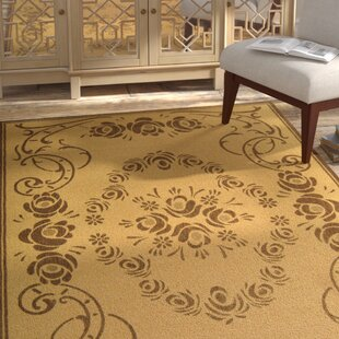 Elisabeth Natural/Brown Indoor/Outdoor Area Rug by Bloomsbury Market No Copoun