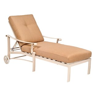 Woodard Bungalow Adjustable Chaise Lounge with Cushion