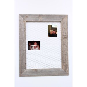 Barn Wood Chicken Wire Message and Photo Memo Board