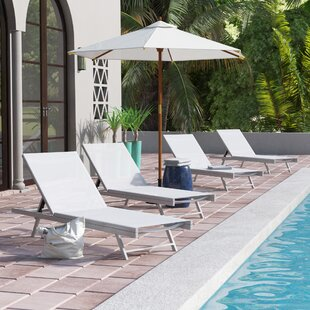 Denning Reclining Chaise Lounge (Set of 4)