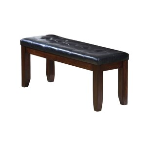Alcott Hill Stanley Brown/Black Wood Bench