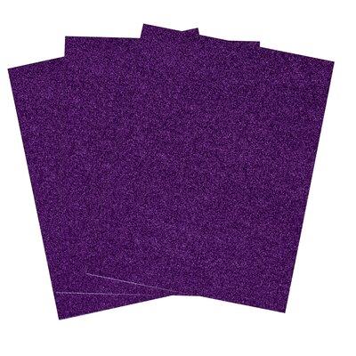 Self-Adhesive Glitter EVA Foam Sheet 3-Piece Light Blue 8-Inch x 12-Inch