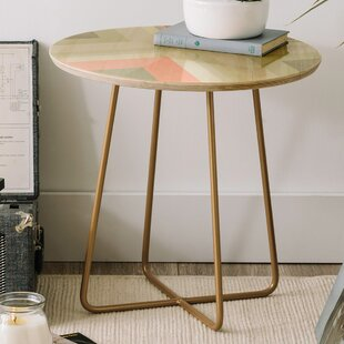 Iveta Abolina Matcha Chevron Round End Table