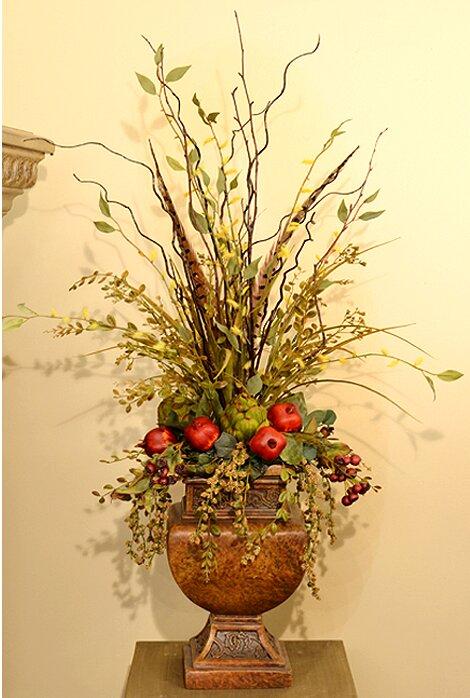 floral home decor orchid floral design wayfair.htm floral home decor mixed faux flower arrangement   reviews wayfair  floral home decor mixed faux flower