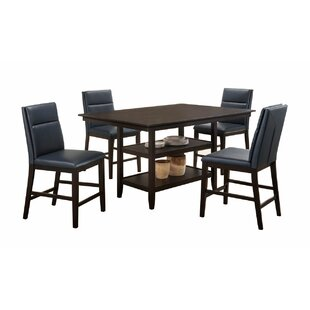 Lawing 5 Piece Counter Height Pub Table S..