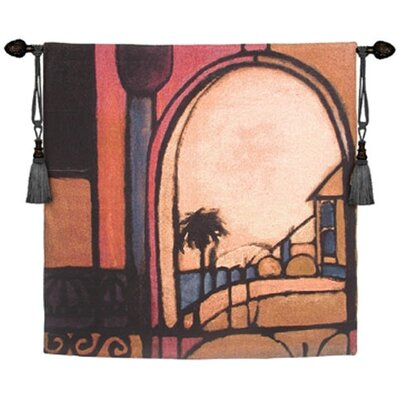 Fine Art Tapestries Cityscape, Landscape, Seascape Exotic Retreat II by Santana Tapestry