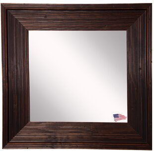 Find Square Brown Wall Mirror By World Menagerie