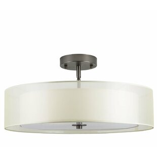 Broach 3-Light Semi-Flush Mount by Wade Logan