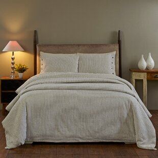 Brandon Natural Stripes Duvet Cover Set