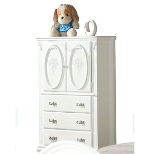 House of Hampton Bravo Wooden Free Standing Jewelry Armoire