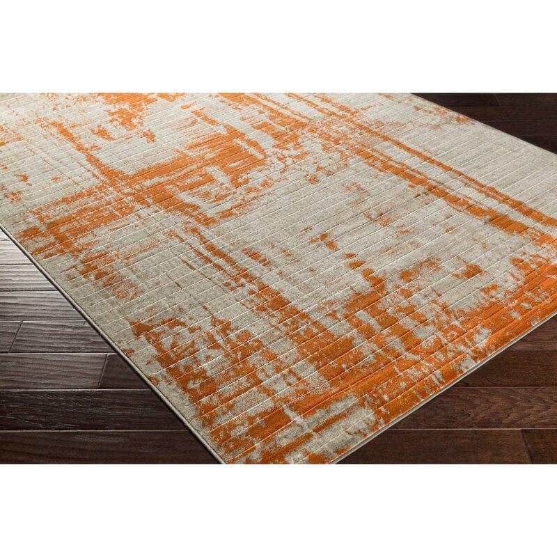 Ferrint Orange Area Rug
