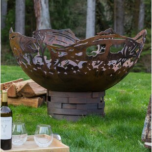 Cedar Creek Sculptures Salmon Steel Fire ..