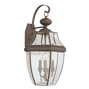 Great deal Dashner 3-Light Outdoor Wall Lantern By Three Posts