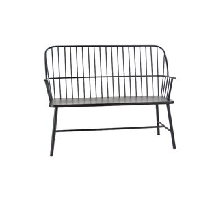 Gehlert Traditional Patio Iron Garden Bench