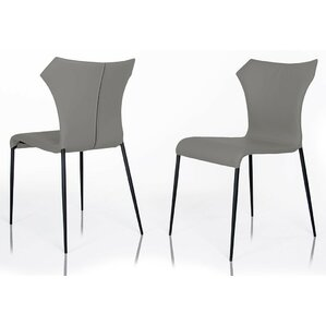 Calmar Genuine Leather Upholstered Dining Chair (Set of 2) by Wade Logan