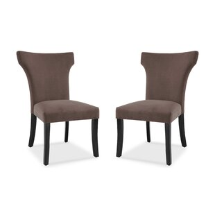 Ebern Designs Farr Wing Back Upholstered Dining Chair (Set of 2)