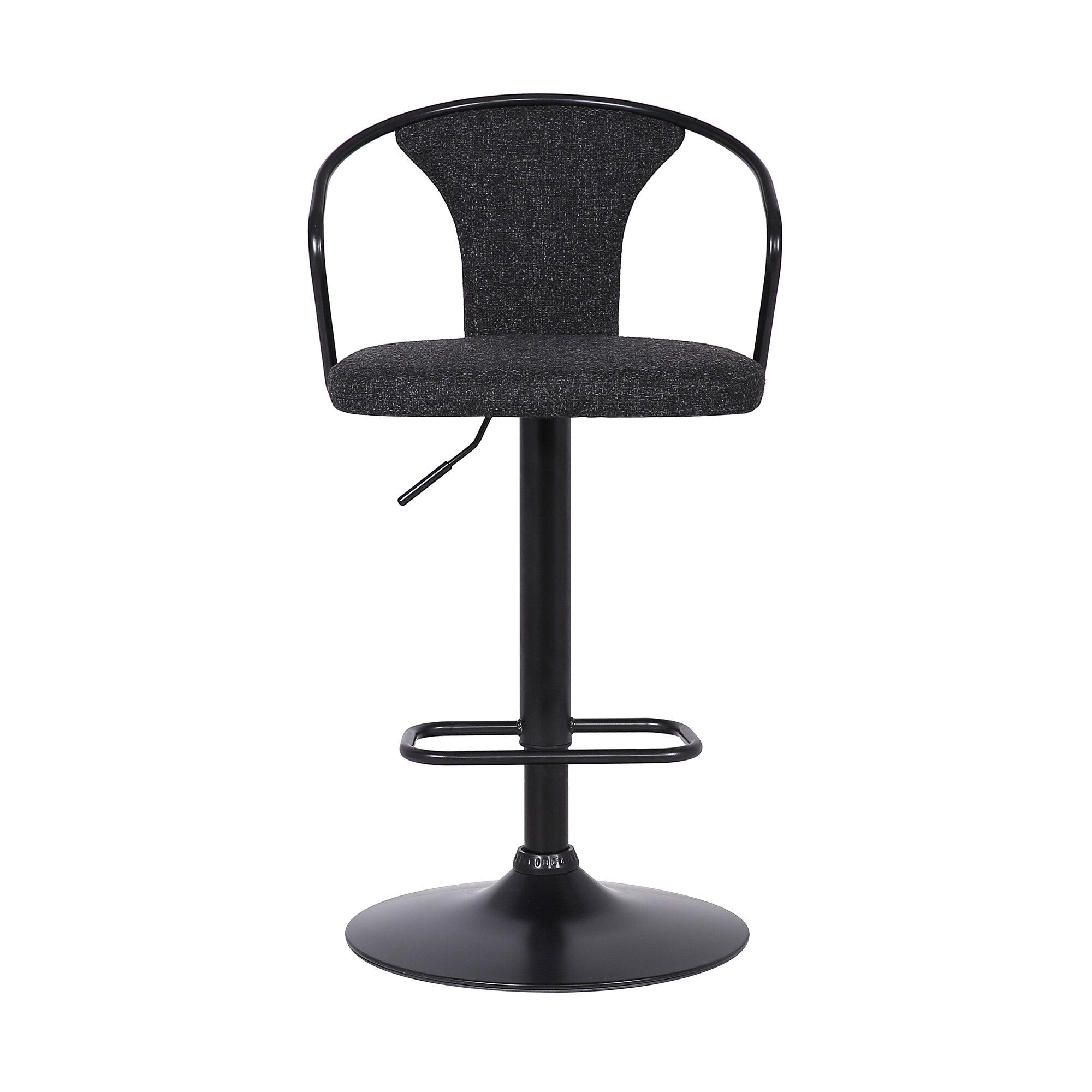Fabulous Dakoda Adjustable Height Swivel Bar Stool Inzonedesignstudio Interior Chair Design Inzonedesignstudiocom