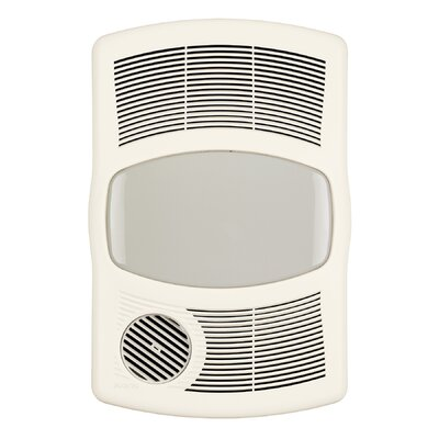 100 CFM Exhaust Bathroom Fan with Heater Broan Bulb Type Standard