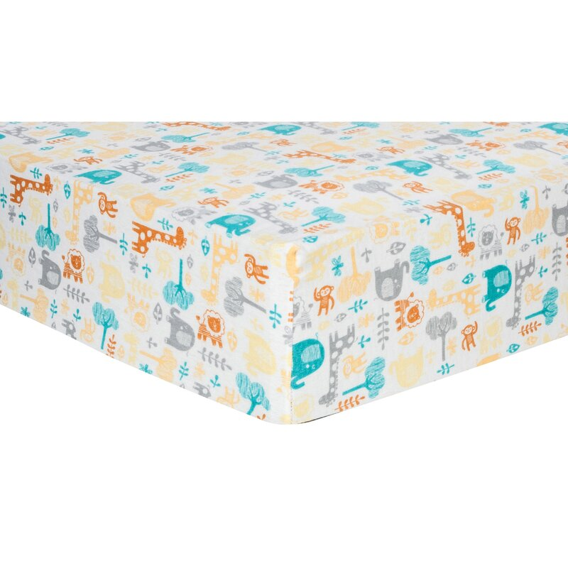 Isabelle Max Lullaby Zoo Deluxe Flannel Fitted Crib Sheet Wayfair