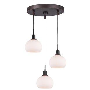 Glassman 3-Light LED Cluster Pendant by Breakwater Bay