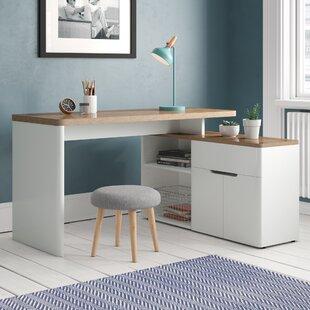 Gentil White Gloss Corner Desk | Wayfair.co.uk