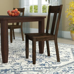 Mabry Solid Wood Dining Chair (Set of 2) Loon Peak