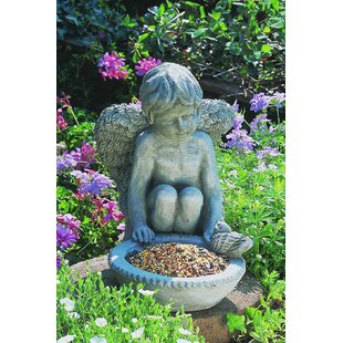 Campania International Cherub Decorative Tray Bird Feeder