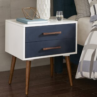 George Oliver Branden Storage 2 Drawer Nightstand