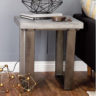 Wood and Metal End Table By Cole & Grey
